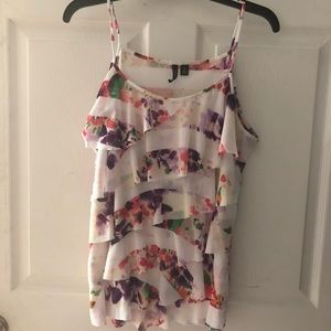 Tiered Watercolor Tank